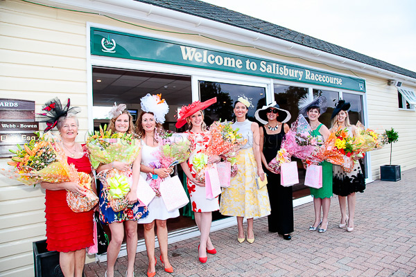 The eight finalists at Salisbury Racecourse Ladies Night