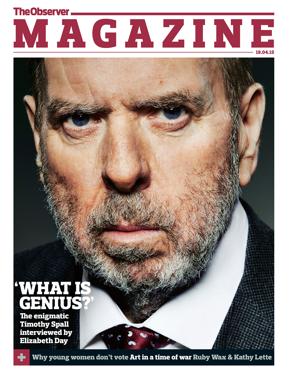Timothy Spall, The Observer Magazine