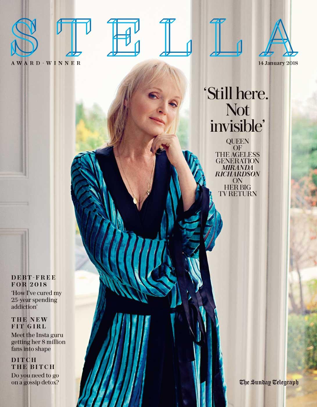 Miranda Richardson, Stella Magazine