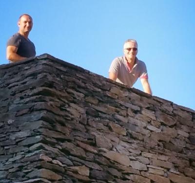 Marc-Antoine et Jean-Pascal sur la terrasse du Couvent de l'Annunziata