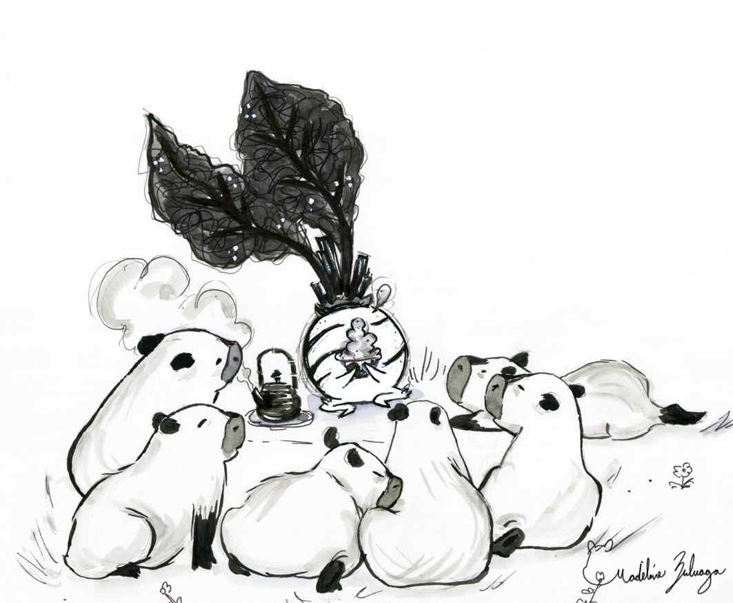 Madeline-Zuluaga-Inktober-6-Lil'-Capybaras-and-the-beet-that-tells-tales.png