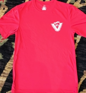Dry Fit T Shirt $15.00    Available in limited quantities of the following sizes and colors:    Baby Blue - Small, XL, 2XL    Black - Small, 2XL    Red - Small, XL, 2XL    Navy - Small, XL, 2XL