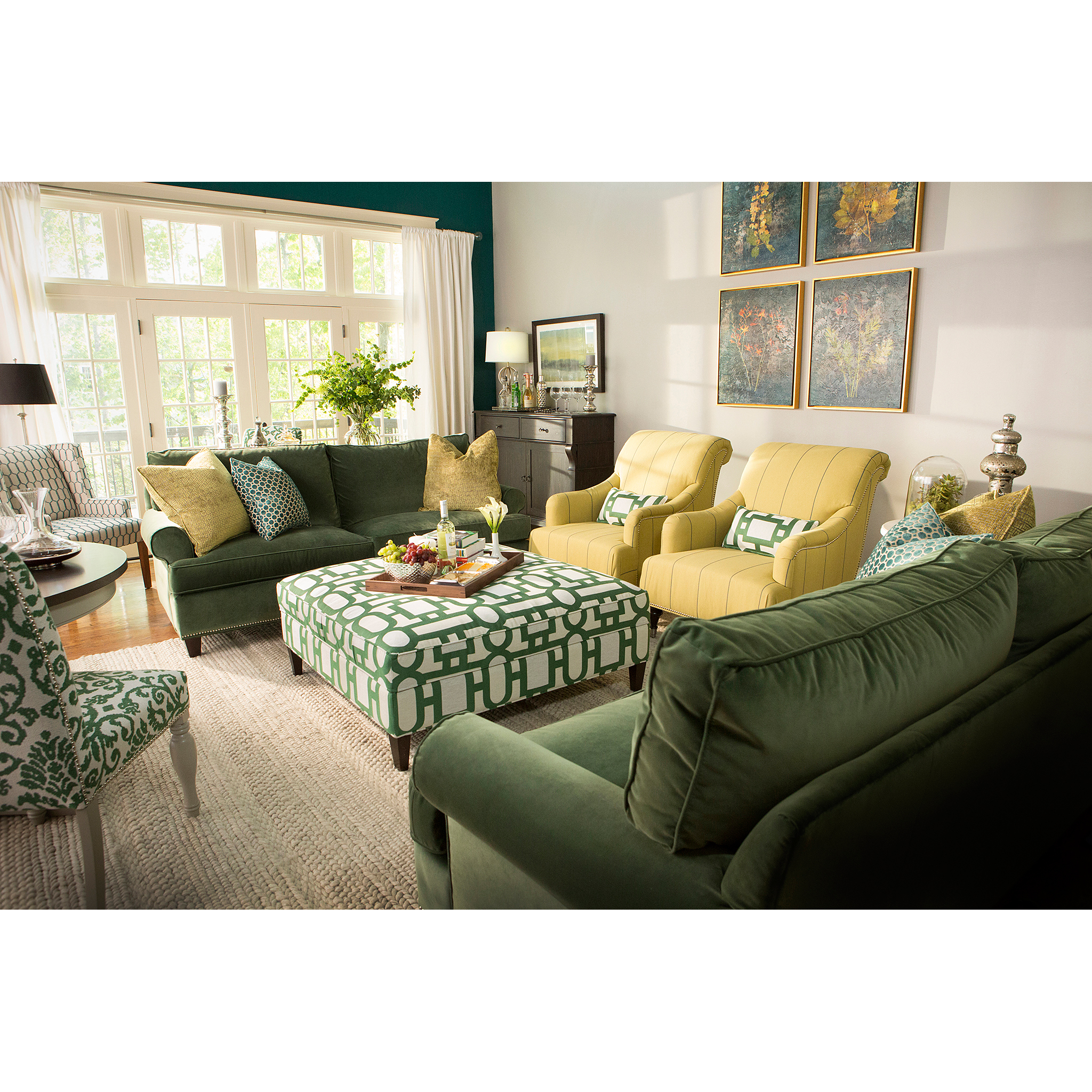 Photograph of Bassett living room furniture for print and web advertising by Craig Anderson