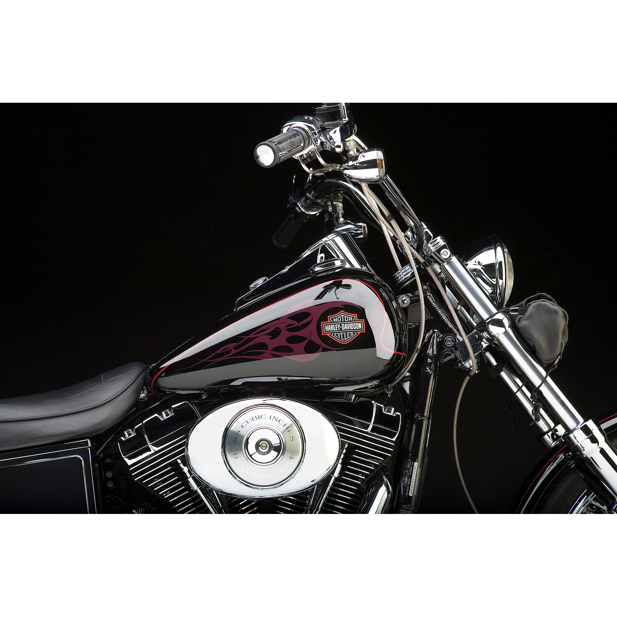 Harley Davidson Motorcycle photographed in the studio
