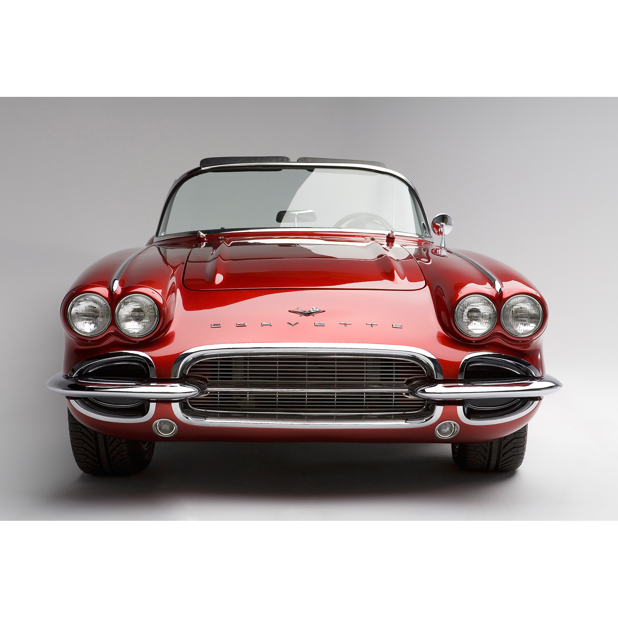 Custom Chevrolet Corvette photographed in studio by Craig Anderson