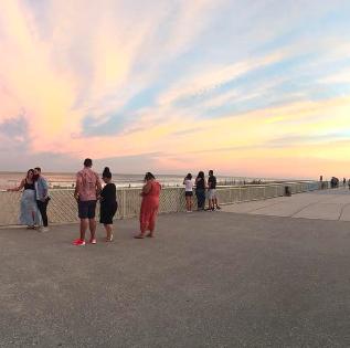 Sunset sky in Rockaway Beach