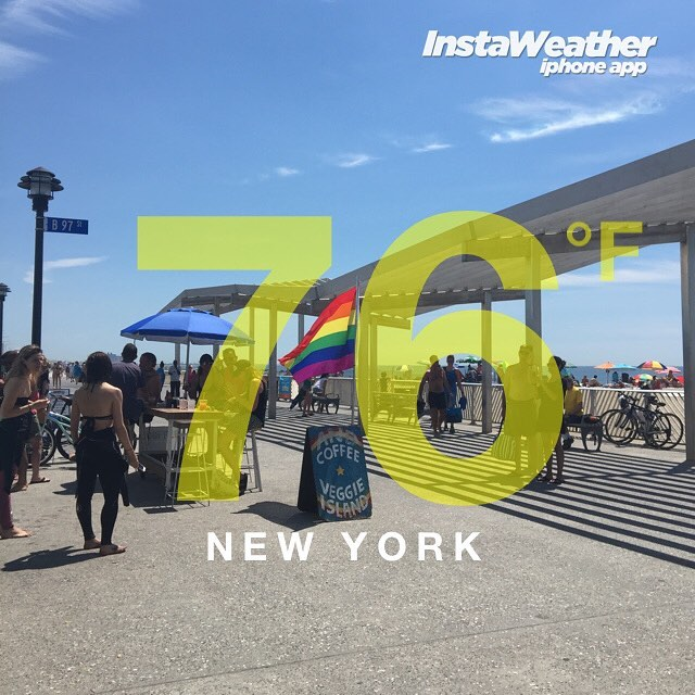 It's heating up in Rockaway! Get here! 76 degrees at Beach 97th street! HAPPY Pride Day! 🏳️‍🌈🏳️‍🌈🏳️‍🌈