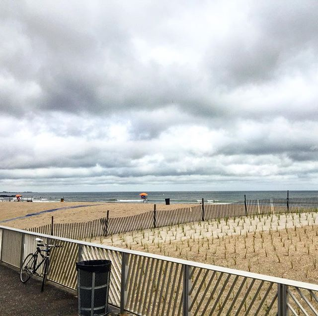 The sun is peaking out and the clouds are clearing. Come spend the evening with us in Rockaway! So much going on tonight too!!!! 71 degrees, perfect waves and humid. The water temp is 72 degrees! #spendthedayinrockaway