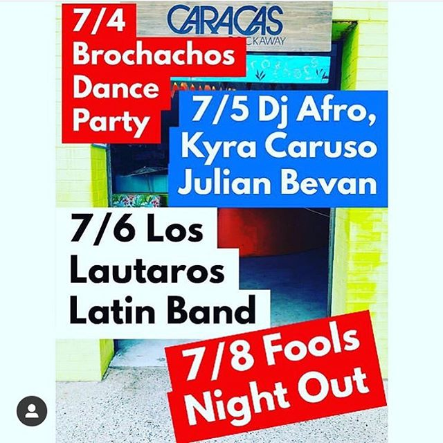 Caracas Rockaway with a full line up of great FREE entertainment all weekend long!!! 🇺🇸🇺🇸🇺🇸 @caracasarepabar