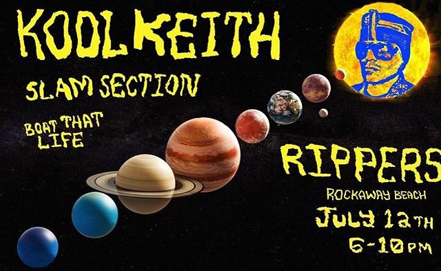 There's no place like @rippers86 on a hot and steamy Friday night with KOOL KEITH performing LIVE! Be there or be ◻️!