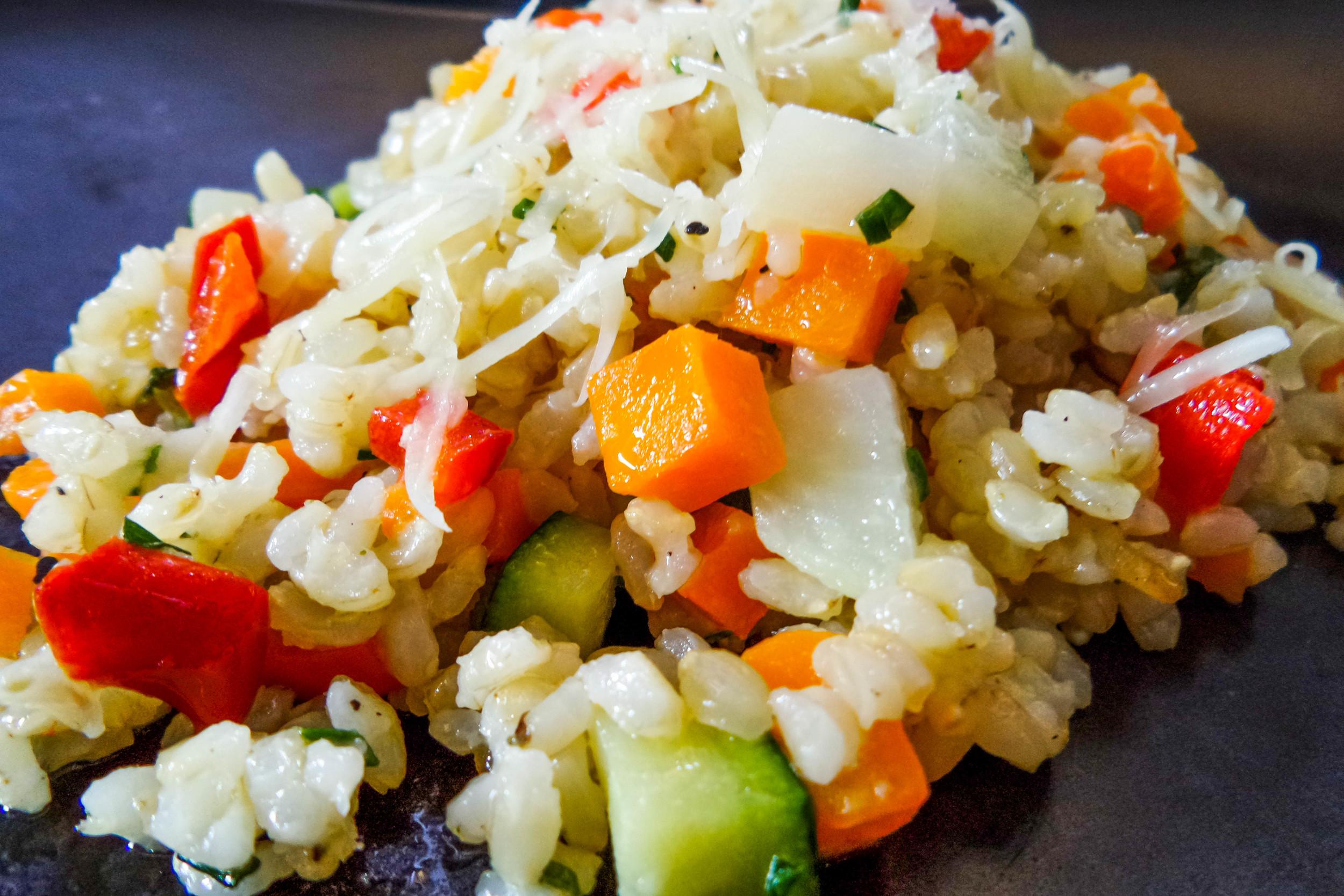 Bunter Gemüse-Vollkornreis