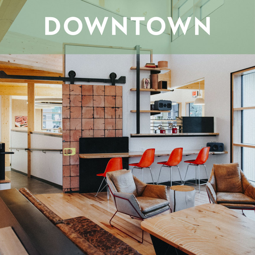 Our Downtown location can be found on the corner of Main and Grand in The Lark Hotel.
