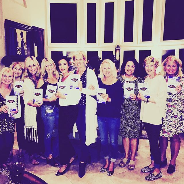 Stacey Braun Sullivan's book club invited me as a guest after reading Millie's Butterflies.  It was a pleasure meeting with such an amazing group of women.  Thank you all for the great discussion and a fine and beautiful evening🌸