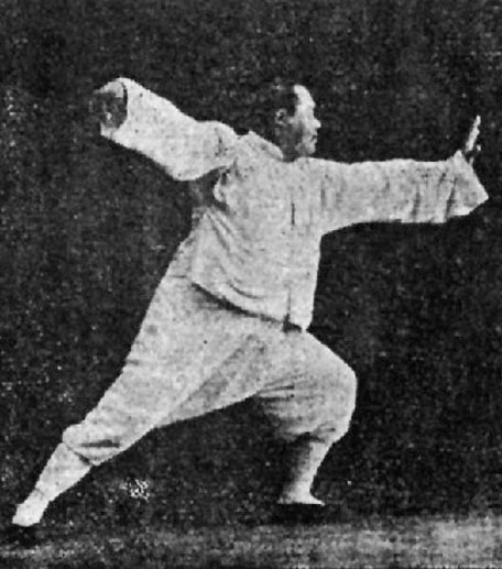 TAI CHI CHUAN  太極拳  The Taijiquan of Li Fangchen (also known as Li Jing Lin) who was a friend of Du Xinwu, is an old boxing style created by Yang Luchan (1799-1872). Yang Luchan was forced to teach the imperial court (the Manchus) which he loathed, so he changed the art he taught and removed the internal training. He kept the real art secret and transmited it behind closed doors to his family. Yang Jianhou (1837-1917) who was a disciple and youngest son of Li Fangchen, learned the old form of the boxing which remained alive but hidden. Yang Jianhou also popularised exercises for health based on the movements of their family art.    In the modern version of Taiji taught in most schools today we start learning the form which is just a long choreography inspired by the martial art it once was and is lacking in any other aspects and training of the old art.  In the old art, as in all the internal boxing schools, there are many li gong (strength training), of nei gong (internal strength training) and combat exercises to practice before you start practicing a form.    The health aspect of the form comes from the practice of nei gong and you must know that the martial aspect is not contained within.