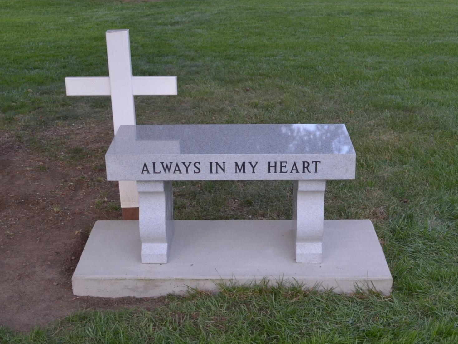 Memorial bench 3 piece