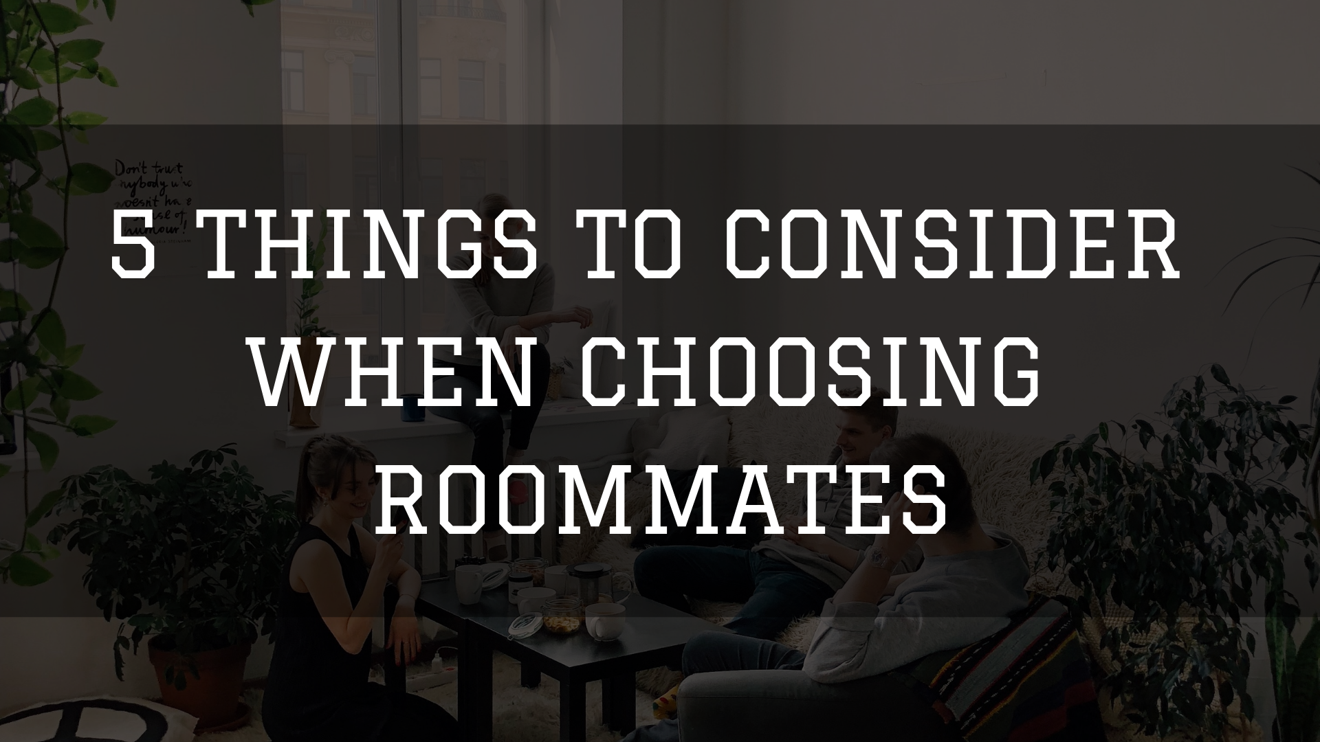 Choosing Roommates