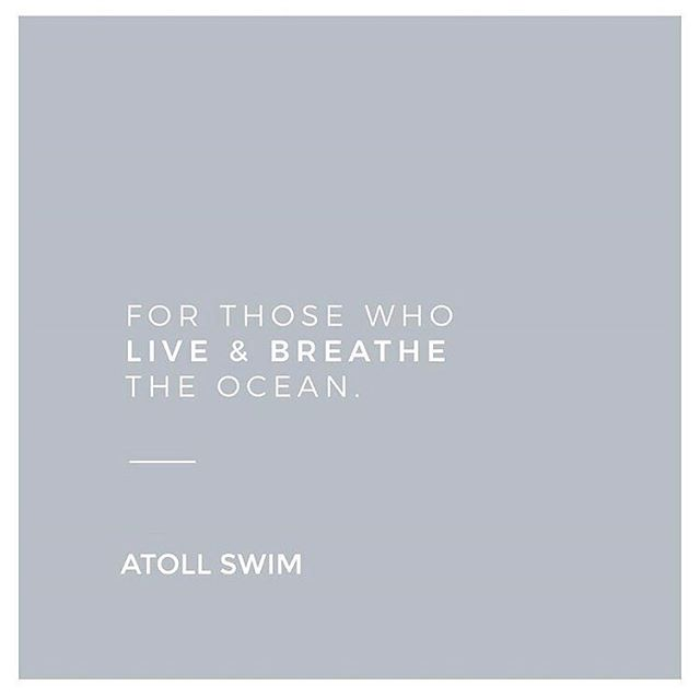 Swimwear designed for the water obsessed | #atollswim