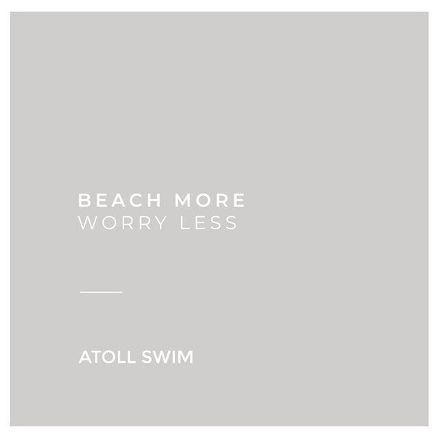 Meet us at the beach ✌🏼 #atollswim