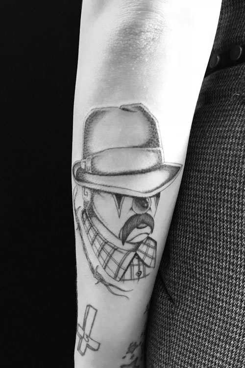Jose Araujo Clown Barbed Wire Tattoo.jpg