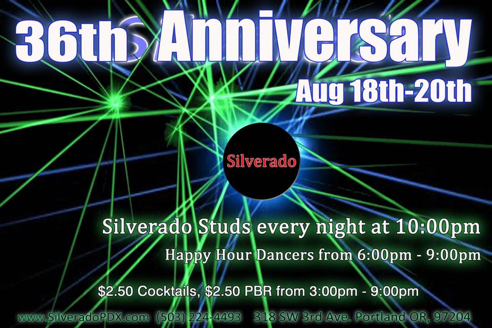 Come celebrate 36 years of fabulousness with us at the Silverado in Downtown Portland!