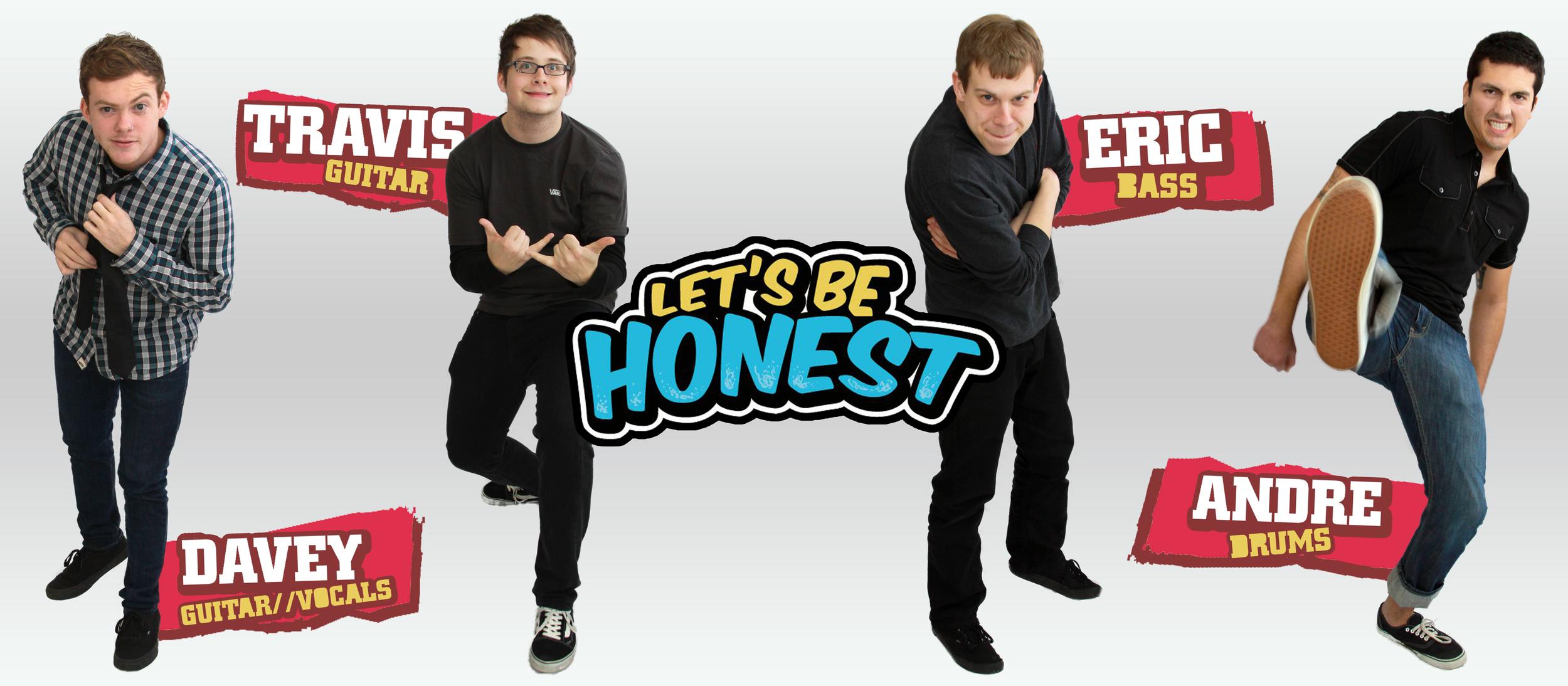 Let's Be Honest - Band Banner Artwork