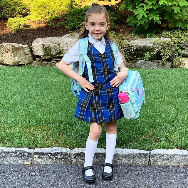 Our sweet girl started Kindergarten today. She was brave and so excited for her first day. With so many new things happening all at once I was beyond proud and in awe of that big genuine smile. I may have shed a few dozen tears but know she'll do great and that smile will carry me through - like it always does. #mysweetadelinegirl