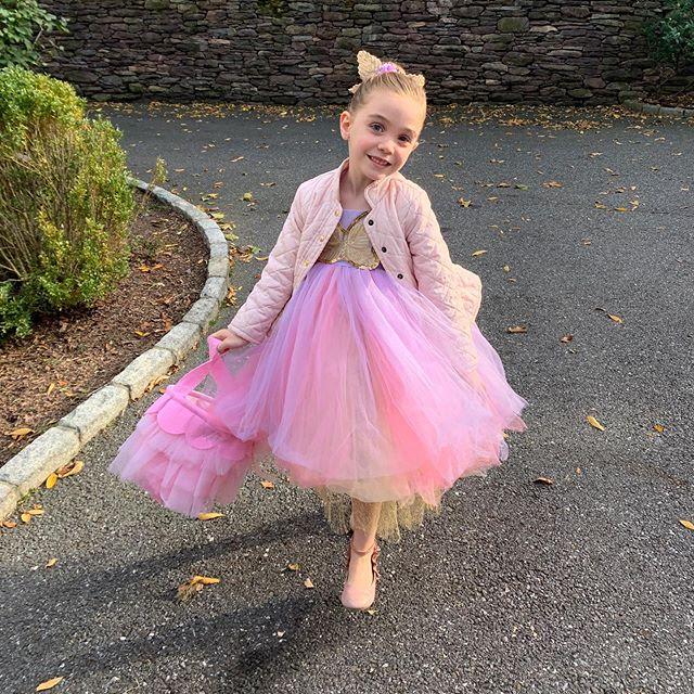 School Halloween Party 2019 - complete with fall leaves and crisp air. #happyhalloween #mysweetadelinegirl