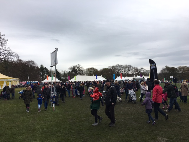 Mud, people and intriguing tents. Who needs a map