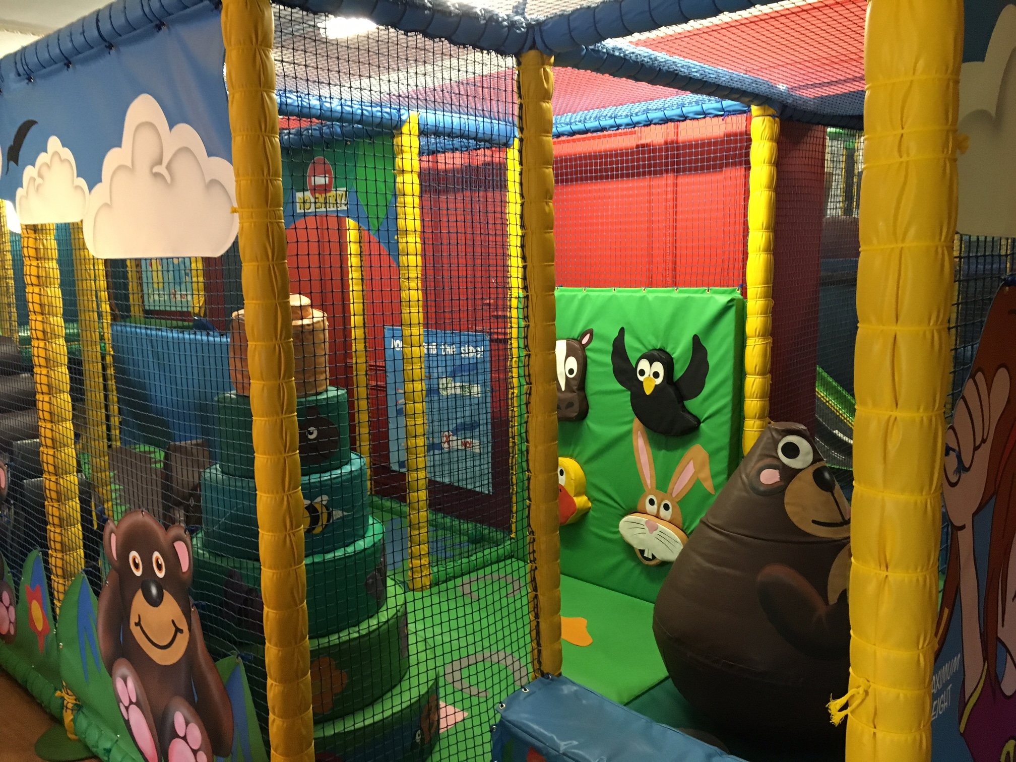 The separate play area in the party area.