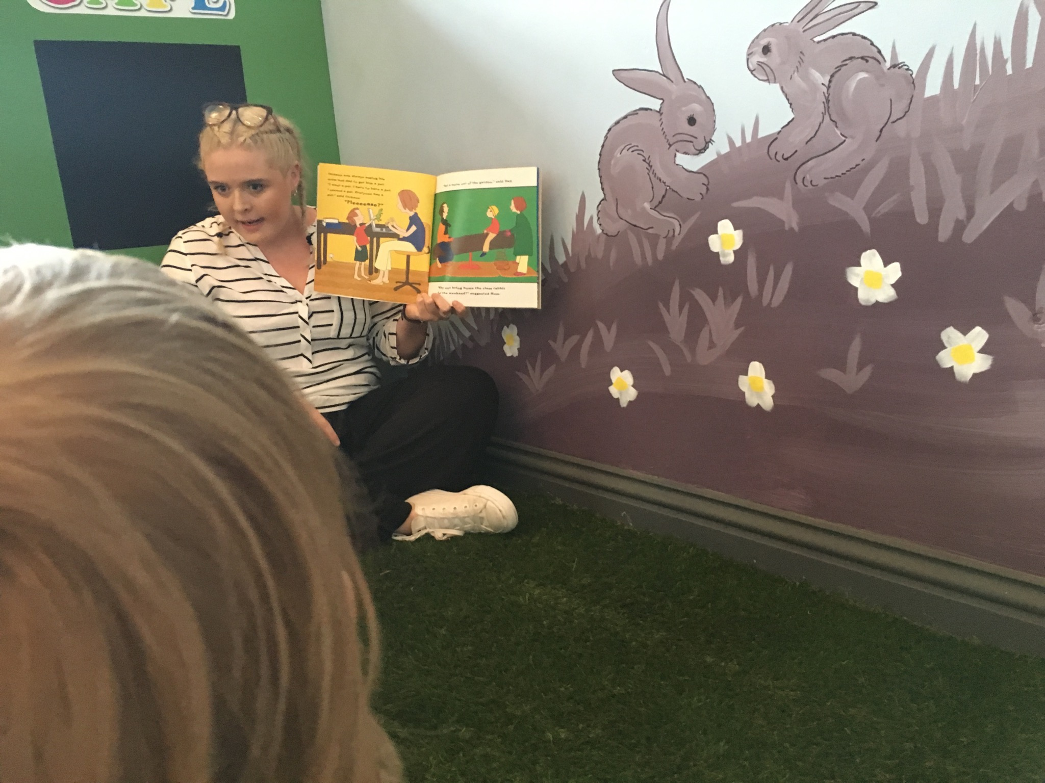 During story time