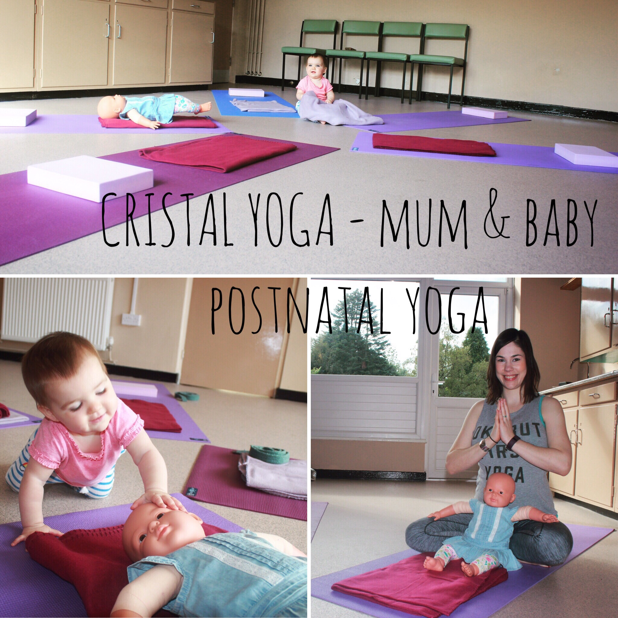 Cristal Yoga Postnatal Yoga. Mum and Baby Yoga. Mum exercise class. Ponteland Newcastle Ouseburn Forest Hall Baby classes Baby exercises