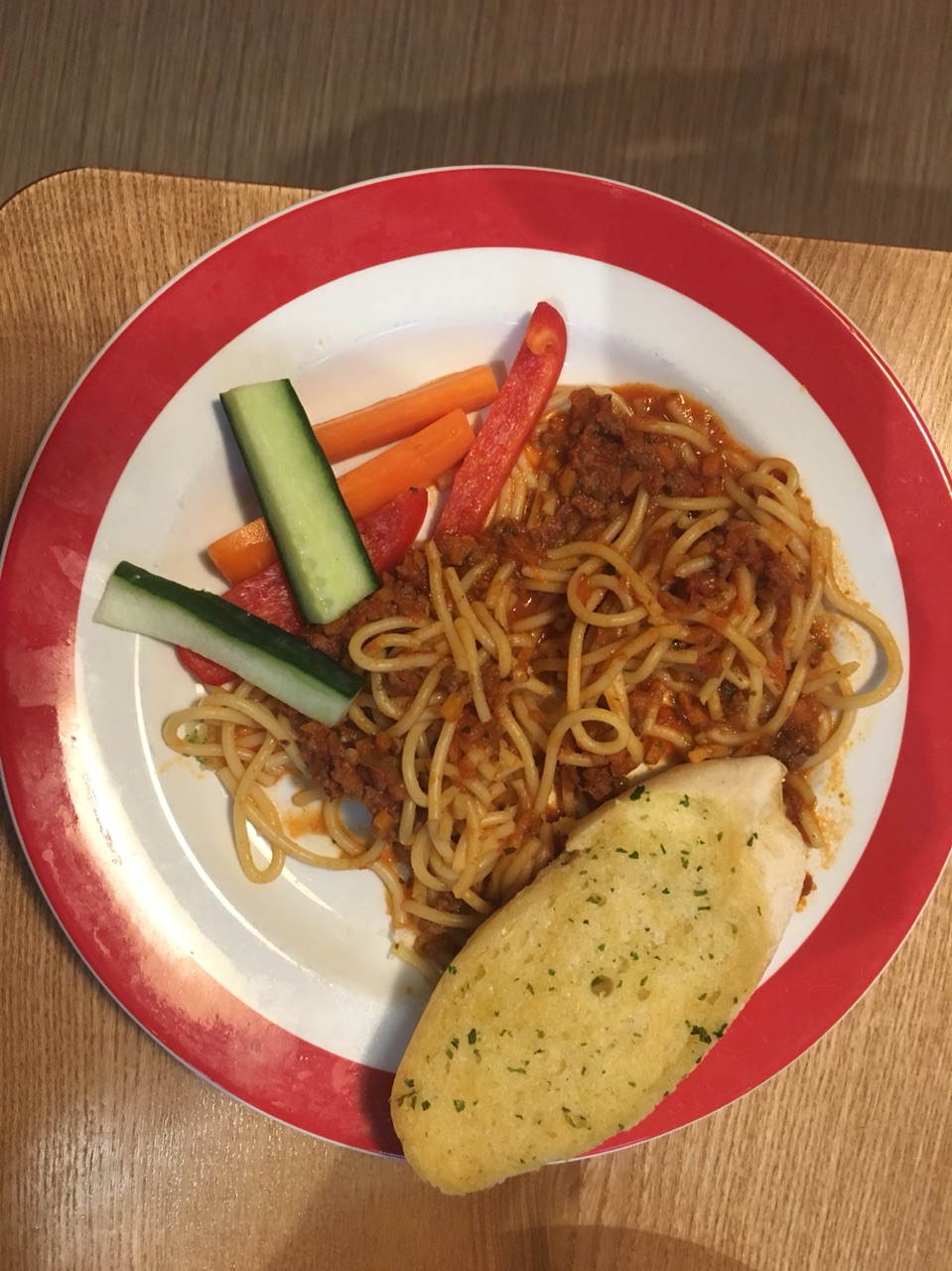 Kids Spaghetti Bolognese at the Cinder Path