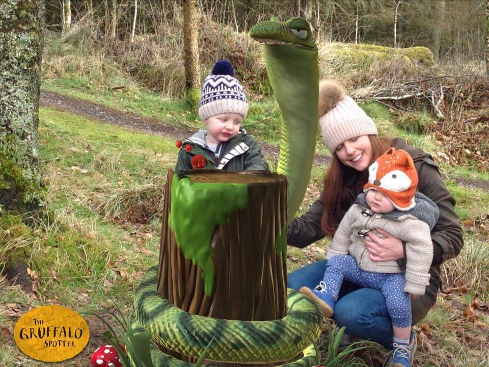 Gruffalo Spotter Kielder Water and Forest Park Snake Toddler Places to take kids Northumberland