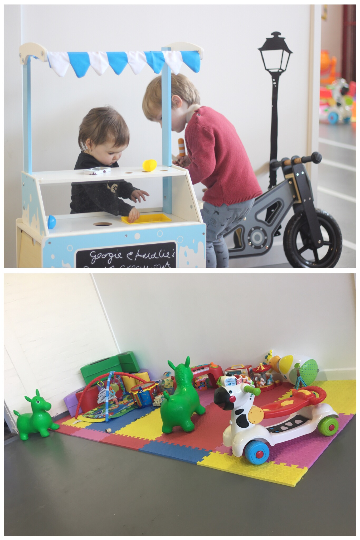 Lets Play Big Children's Role Play Washington Ice Cream Station and Baby Play Area