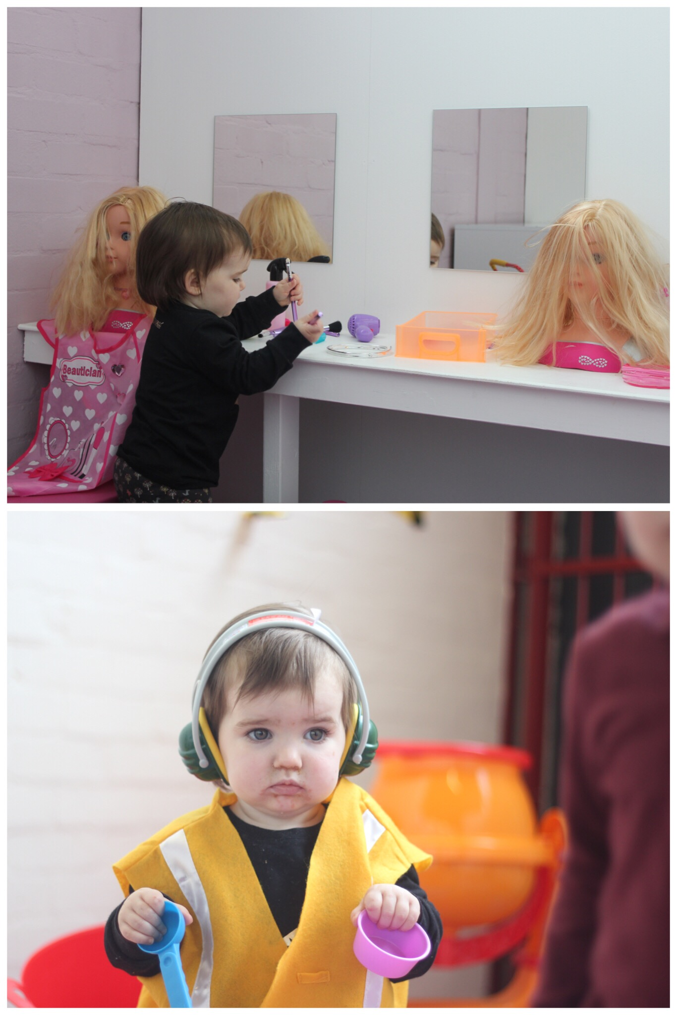 Lets Play Big Children's Role Play Washington Hairdressers and Building Site
