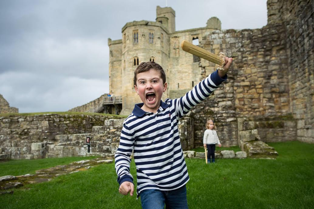 Samuel at Warkworth Castle