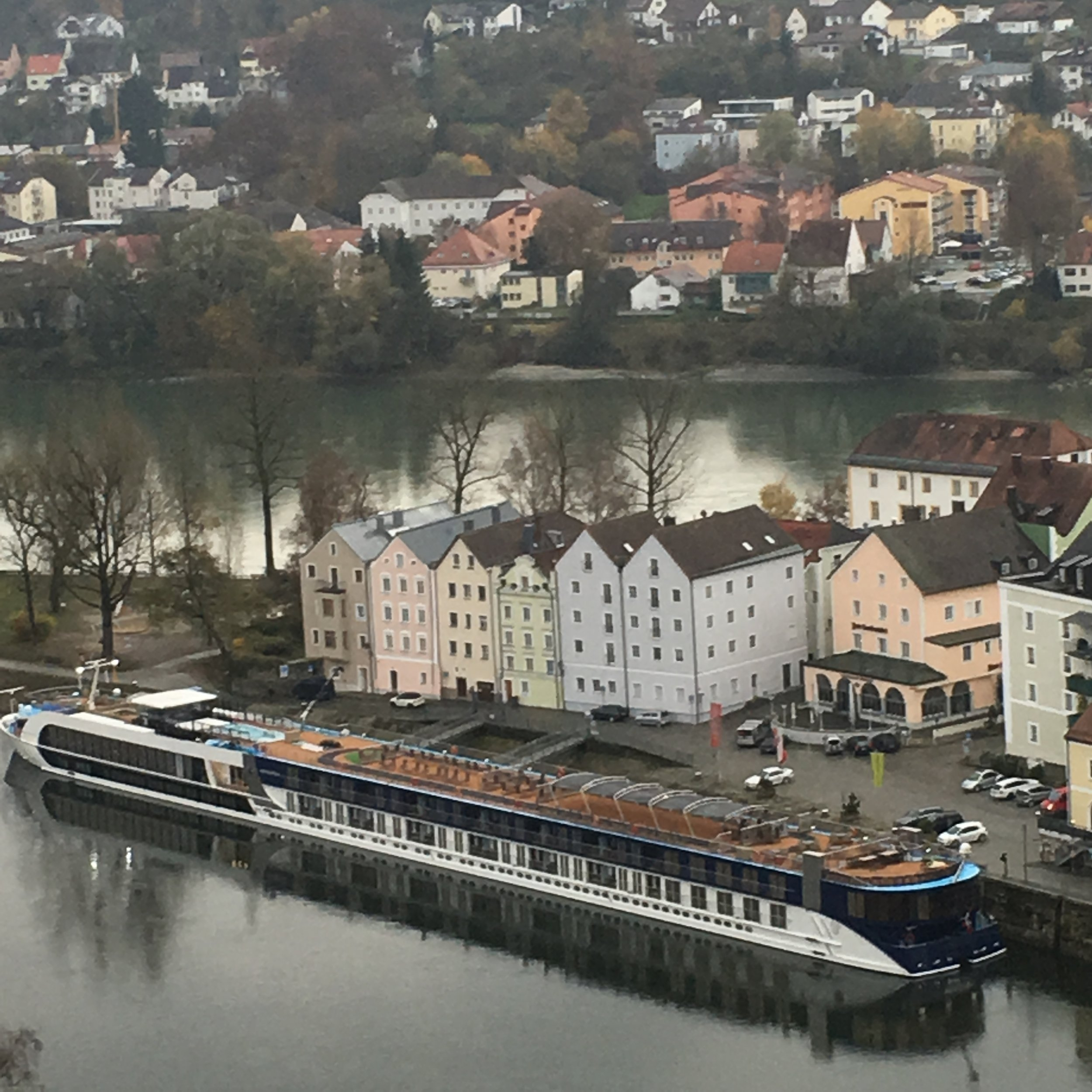 AmaWaterways' AmaSerena docked in Passau, Germany.