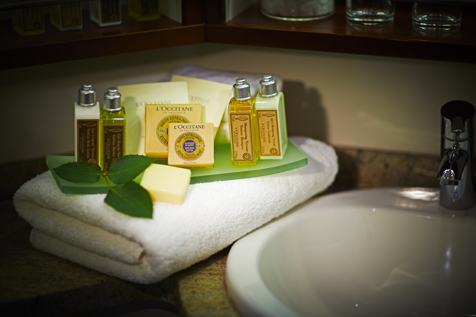 L'Occitane bath amenties