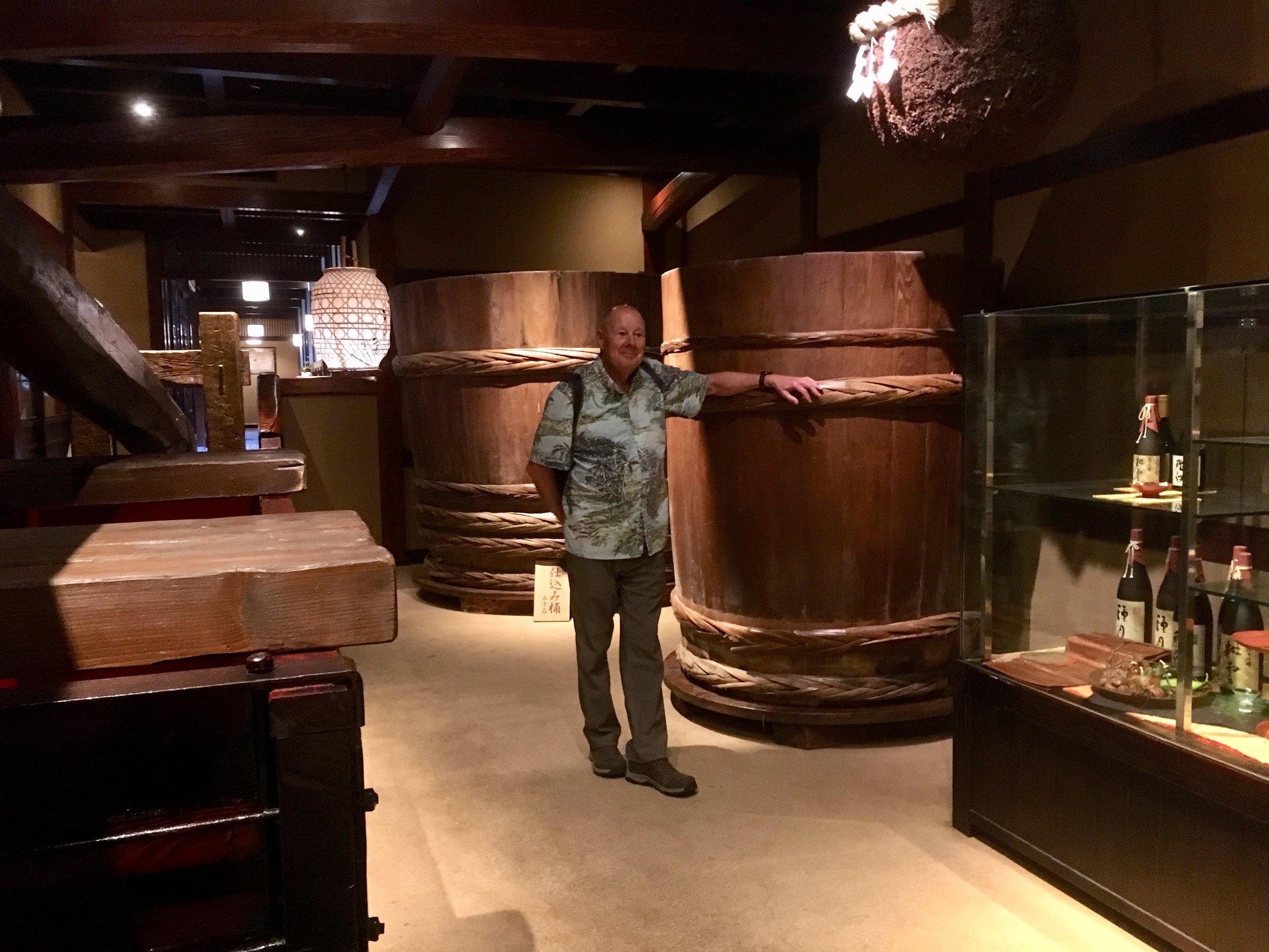 Original sake barrels