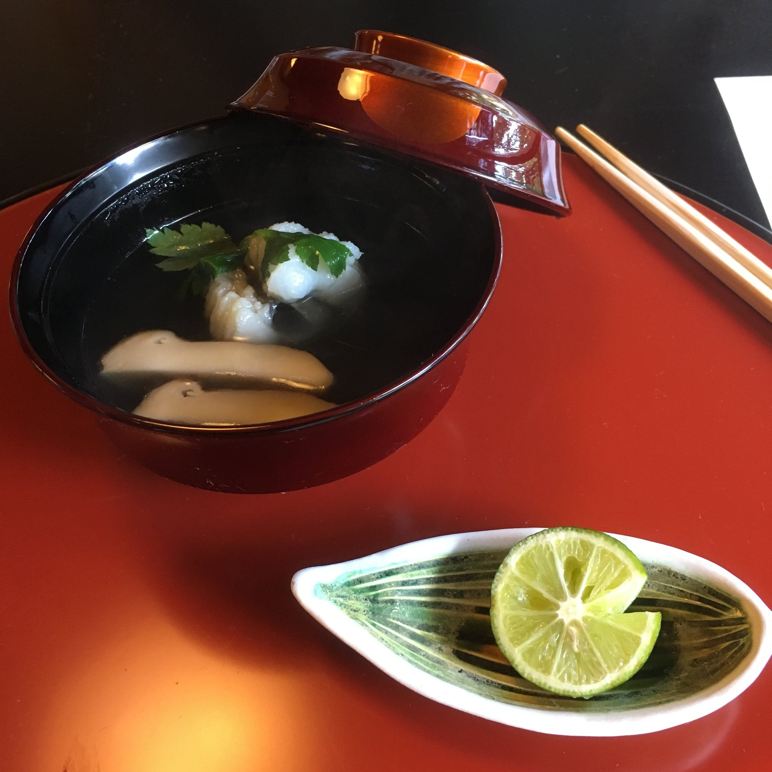 Pike conger and Matsutake mushroom