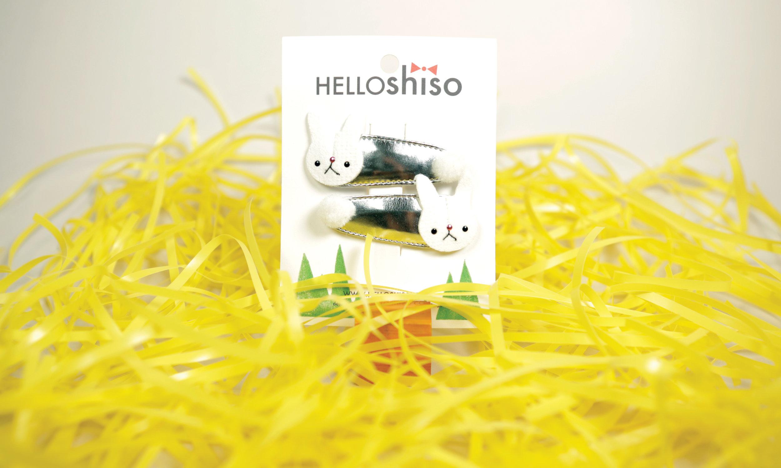 Bunny Hair Clips from Hello Hiso