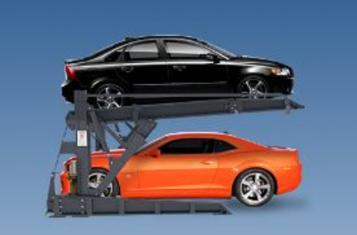 Car lifts in garages in select homes