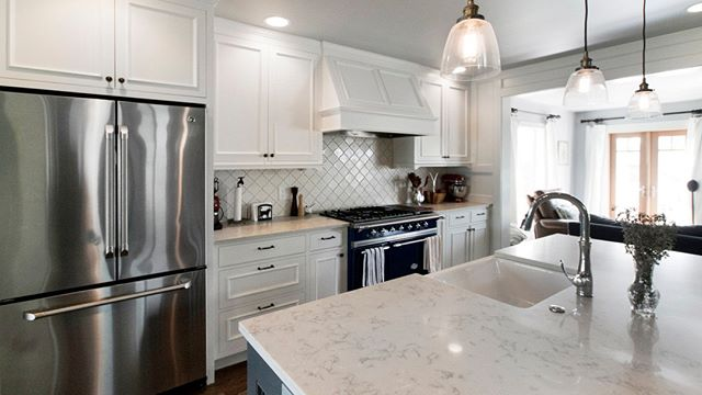 Looking for an all white kitchen while maintaining interest? Choose cabinetry with some detailing, interesting tiling patterns that cover an entire wall in lieu of a backsplash and natural stone surfaces instead of pure white. The added interest will have both the personality and the bright, clean finish that you're looking for!⠀⠀⠀⠀⠀⠀⠀⠀⠀ .⠀⠀⠀⠀⠀⠀⠀⠀⠀ .⠀⠀⠀⠀⠀⠀⠀⠀⠀ .⠀⠀⠀⠀⠀⠀⠀⠀⠀ .⠀⠀⠀⠀⠀⠀⠀⠀⠀ #seattlehome #seattleresidence #seattleresidential #seattlehomedesign #seattlehomedesigner #seattleremodel #residentialdesign #residentialdesigner #homedesign #homedesigner #homeremodel #kitchendesign #seattleinteriordesign #seainteriordesigner #interiordecorating #decordesign #decoratingideas