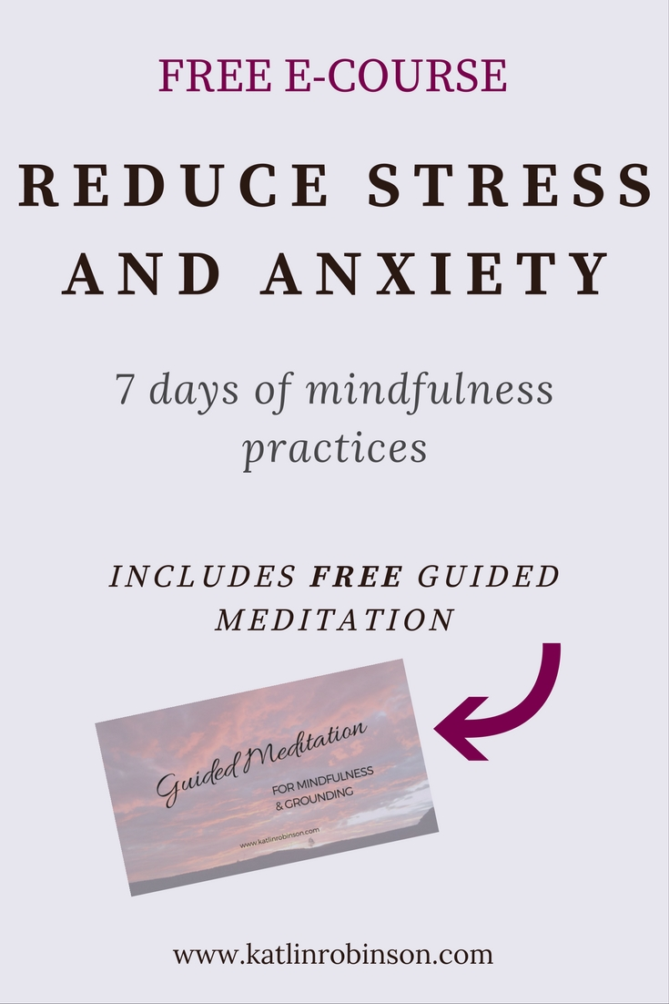 FREE E-Course Reduce Stress and Anxiety