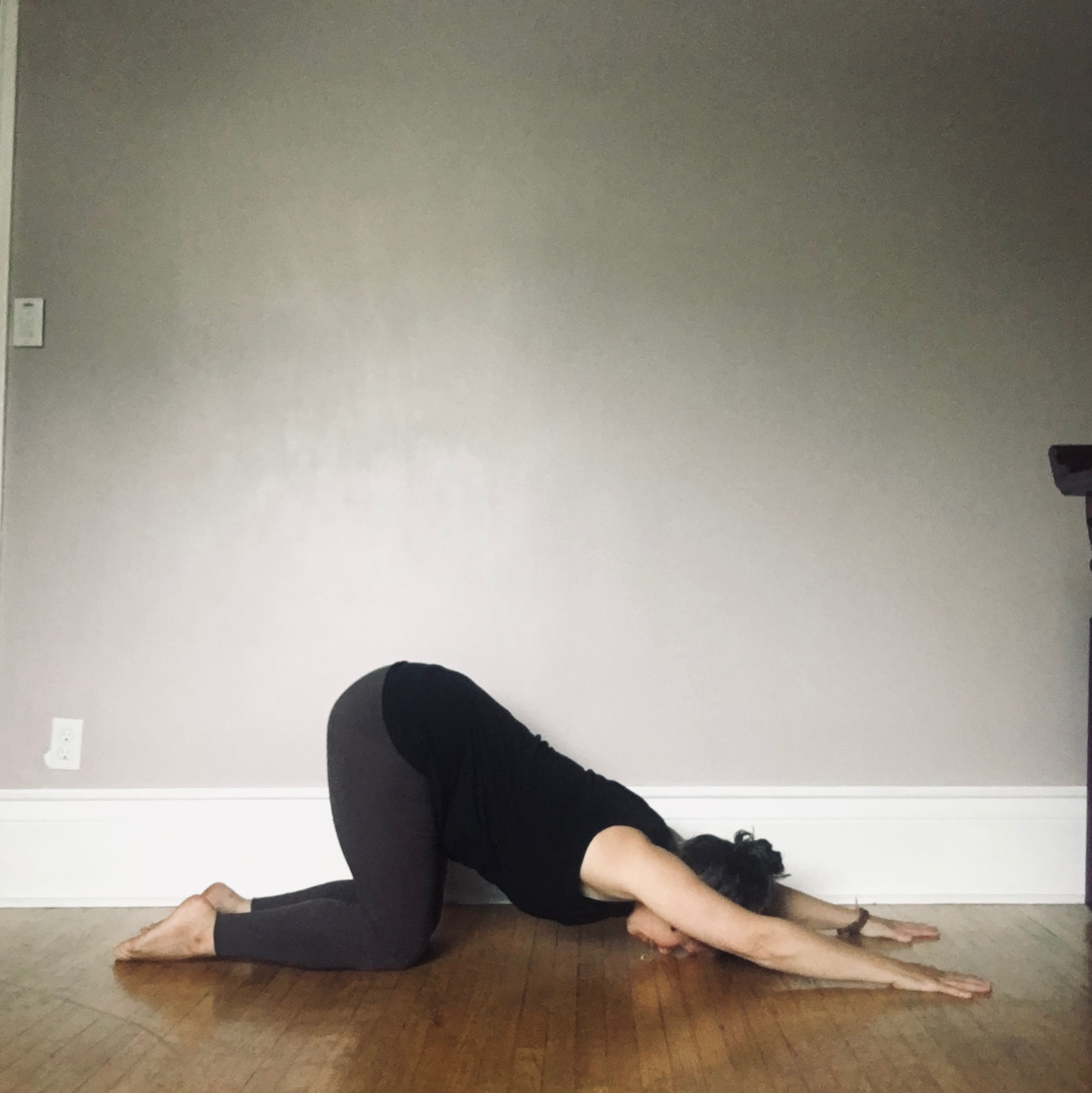 heart opening pose