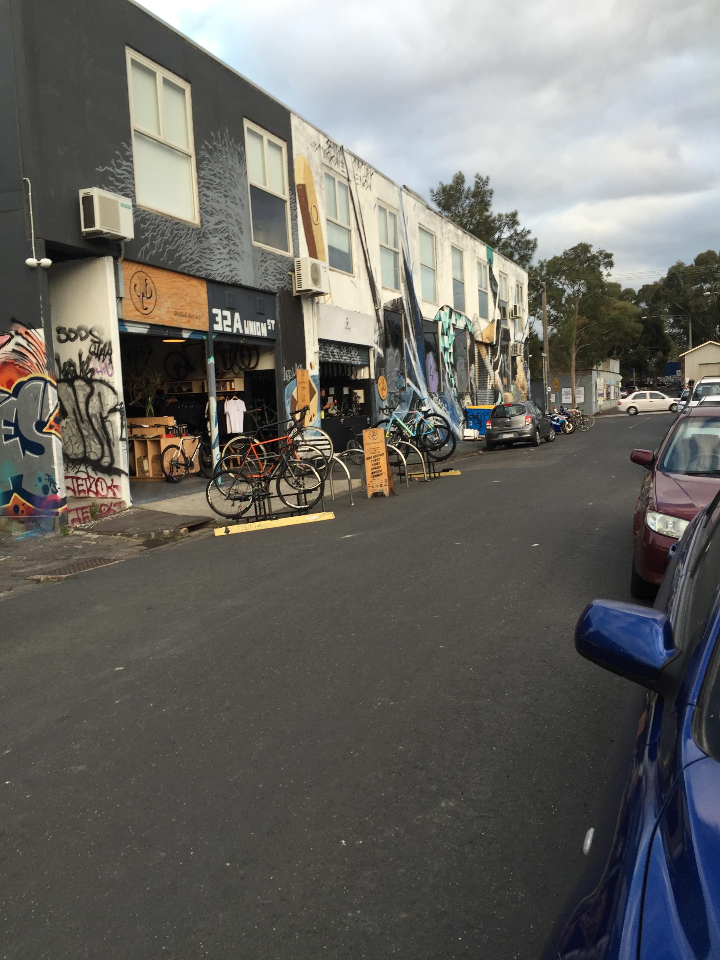 Bike shop on the bike path near Jewell Station