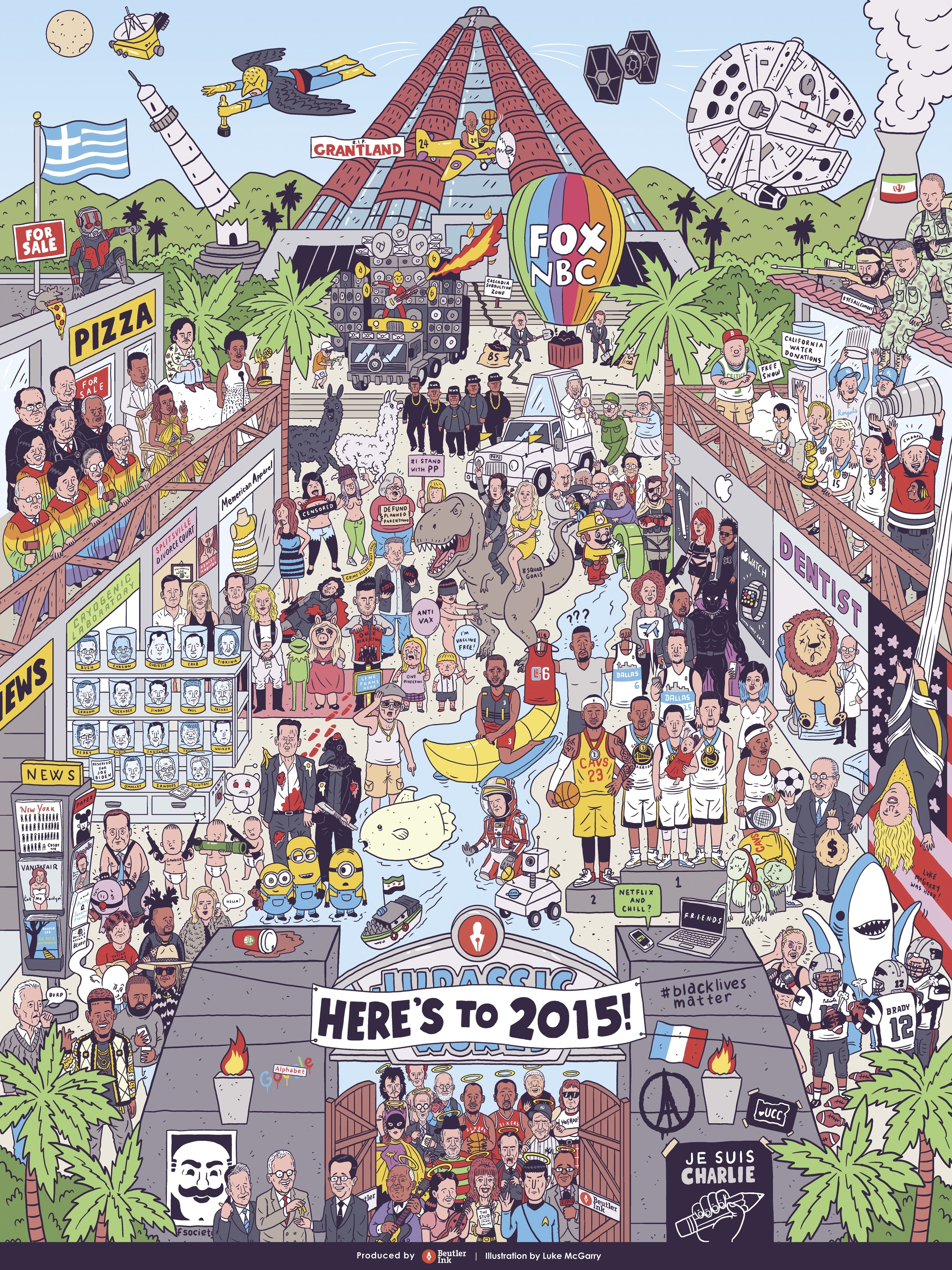 Can you spot every 2015 pop culture reference in this giant