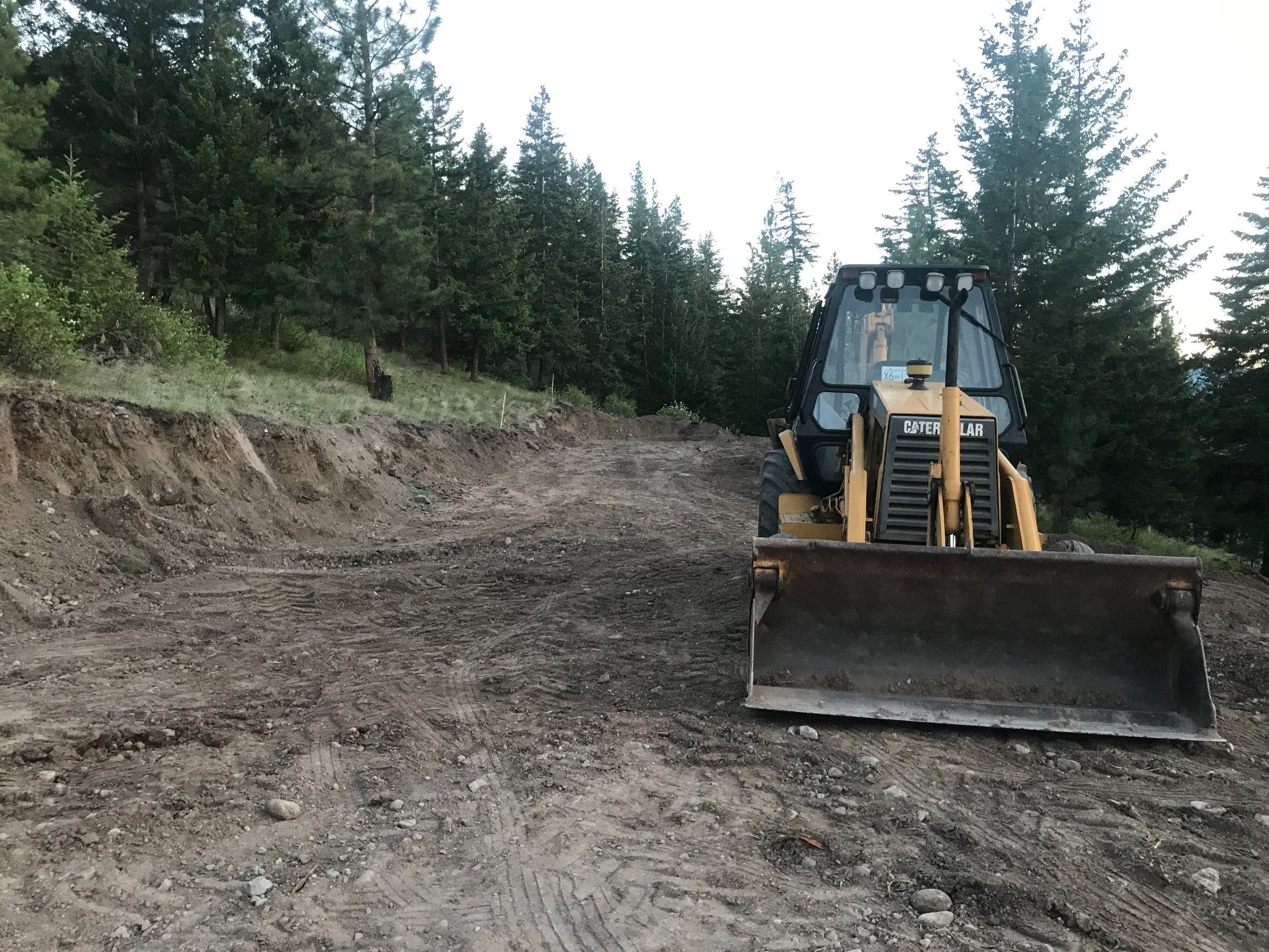 Site leveling and prep work - SEI has the heavy equipment needed to complete all our own projects