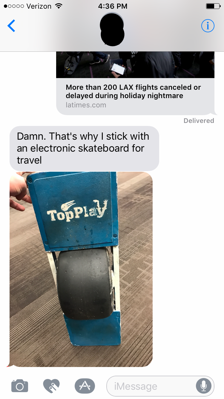 An Electronic Skateboard. You can't make this shit up.