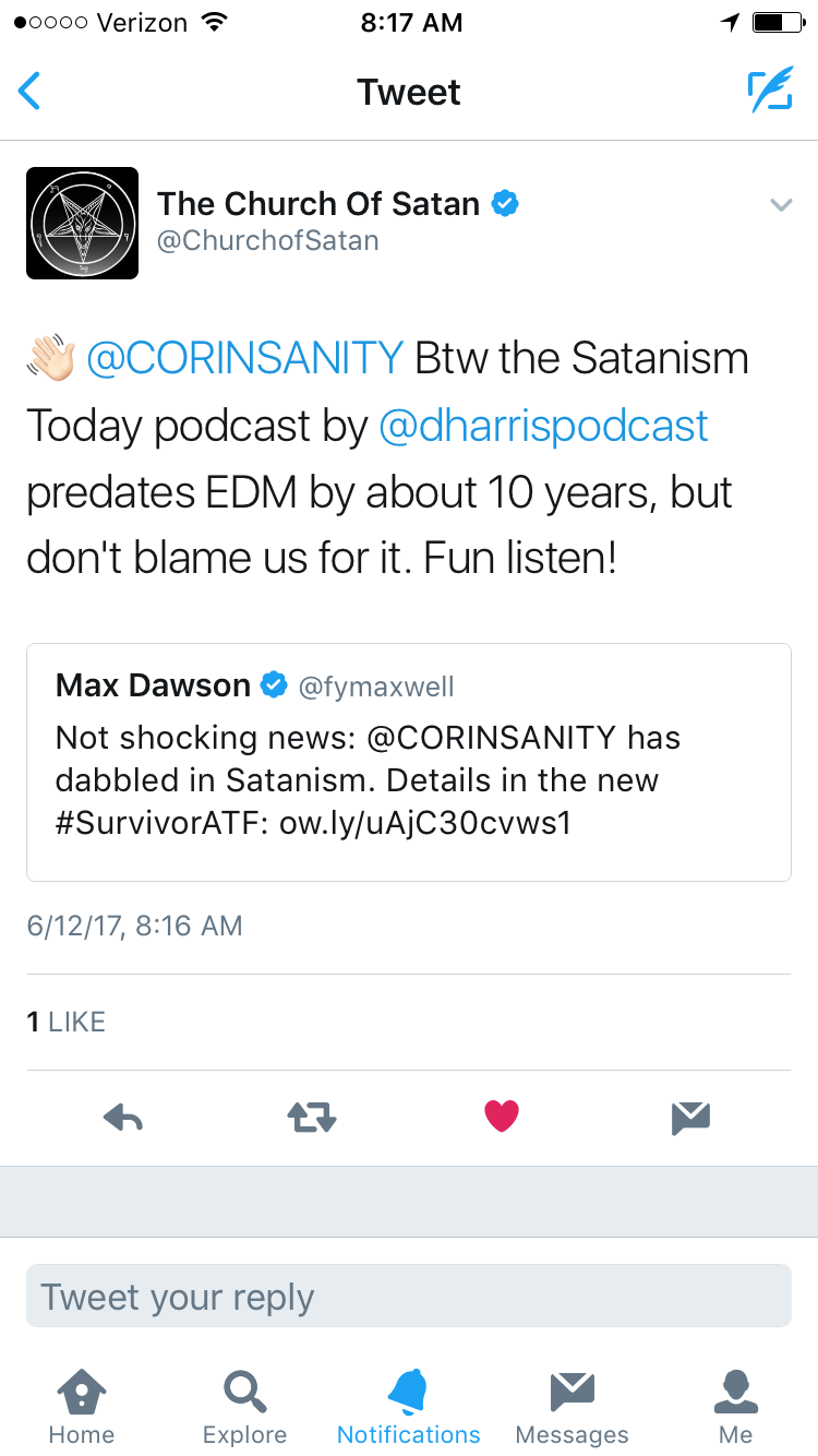 Thank you Church of Satan for listening to our show!